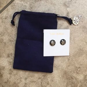 Tory Burch Black and silver earrings
